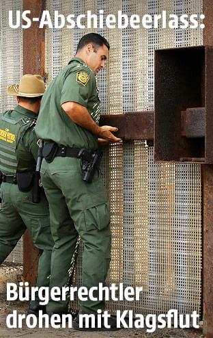 Grenzwachen bei Zaun