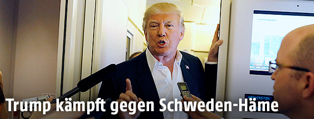 Donald Trump in der Air Force One