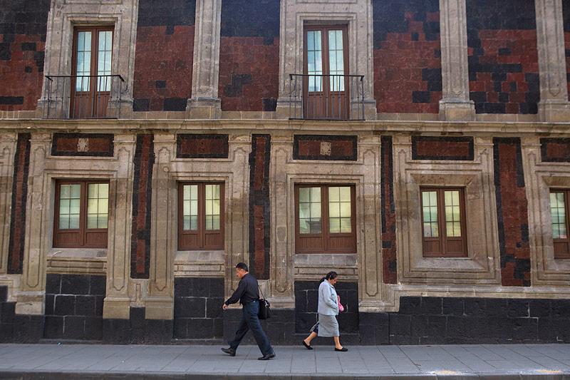 Schiefes Haus in Mexiko Stadt