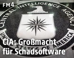 CIA-Logo im Hauptquartier in Langley