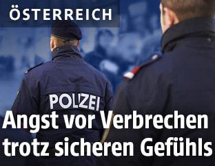 Polizisten auf der Wiener Mariahilferstraße