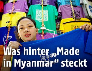 Frau mit T-Shirt