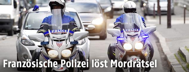 Polizeikonvoi in Nantes