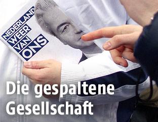 Eine Wahlkampfbroschüre von Geert Wilders