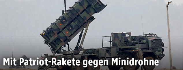 Mobile Patriot Missile Batterie in der Türkei