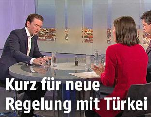 """Außenminister Sebastian Kurz in der """"Pressestunde"""""""