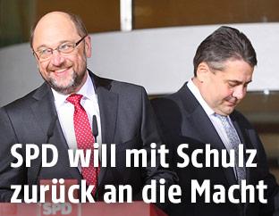 Sigmar Gabriel und Martin Schulz
