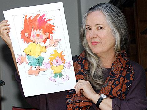 Barbara von Johnson, die Zeichnerin von Pumuckl im März 2002