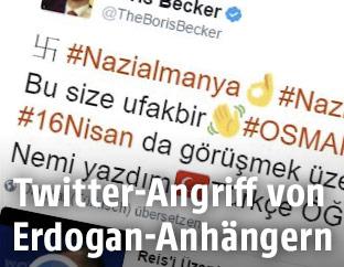 Screenshot eines gehackten Twitter-Profils