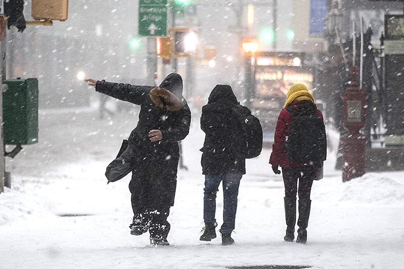 Schneefall in New York