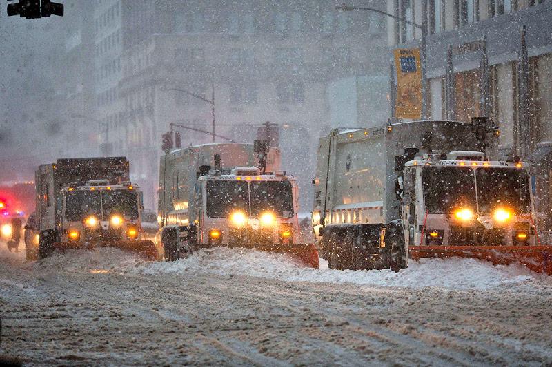 Schneepflüge in New York