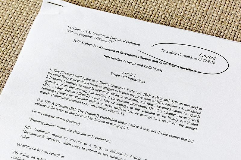 Geheime Verhandlungsdokumente