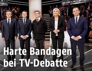 Französische Präsidentschaftskandidaten im TV-Duell