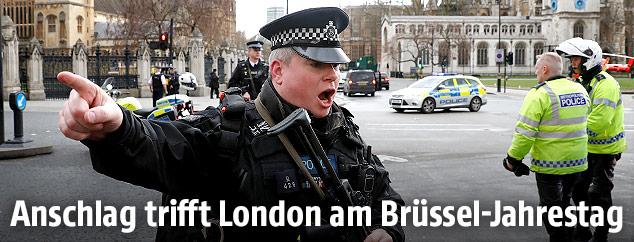 Polizist in London