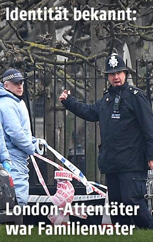 Forensiker und Polizist in London
