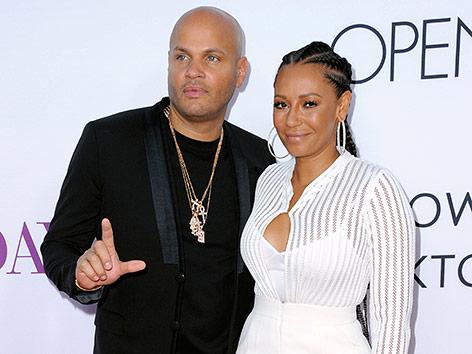 Mel B mit ihrem Ehemann