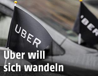Uber-Fahne