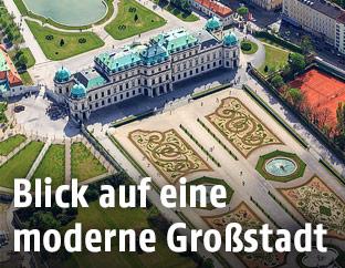 Luftansicht von Wien