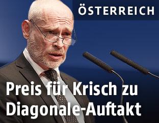 Schauspieler und Preisträger Johannes Krisch