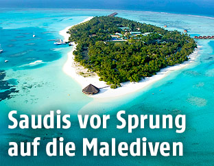 Atoll auf den Malediven