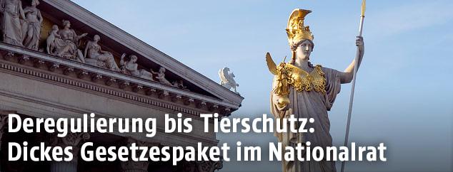Pallas Athene vor dem Wiener Parlament