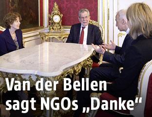 NGO-Chefs bei Bundespräsident Alexander Van der Bellen