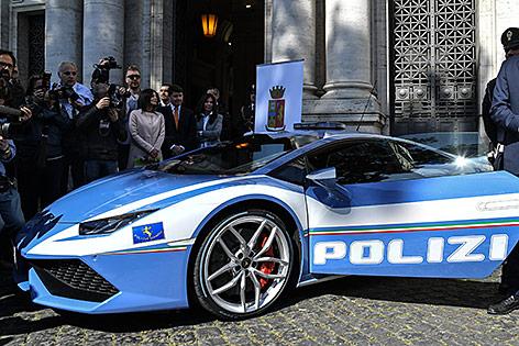 Lamborghini im Polizeidesign