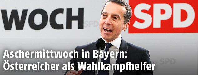 Bundeskanzler Christian Kern (SPÖ) beim Politischen Aschermittwoch der SPD in Vilshofen
