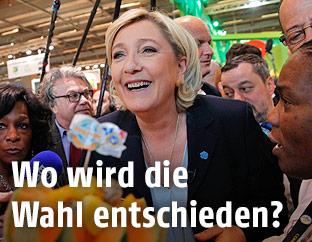 Die französische Präsidentschaftskandidatin Marine Le Pen (FN)