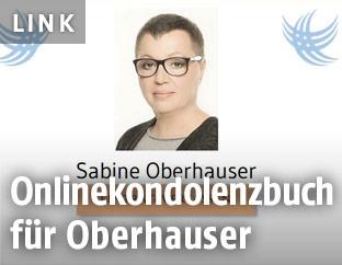Einstiegsseite für das Onlinekondolenzbuch für Sabine Oberhauser