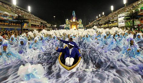 Die Portela Samba Schule beim Karneval in Rio