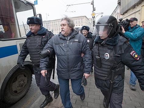 Festnahmen in Moskau