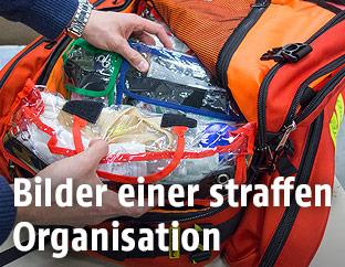 Eindrücke aus dem MSF-Lager in Brüssel