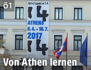 Plakat zur documenta 14 in Athen