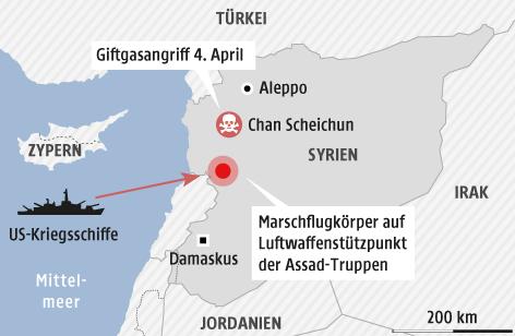 Karte zeigt Syrien