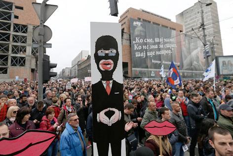 Demonstration in Belgrad
