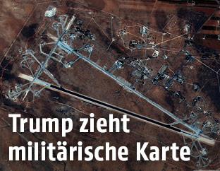 Shayrat Airfield in Homs, Syrien