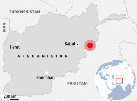 Karte zeigt Afghanistan