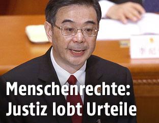 Der Leiter der chinesischen Justizbehörden, Zhou Qiang