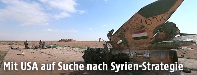 Zerstörtes Haus in Syrien