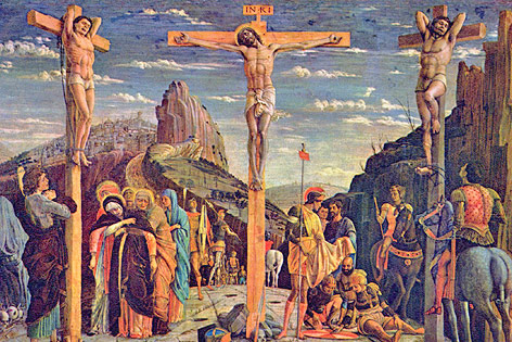 Kreuzigungsgemälde von Andrea Mantegna