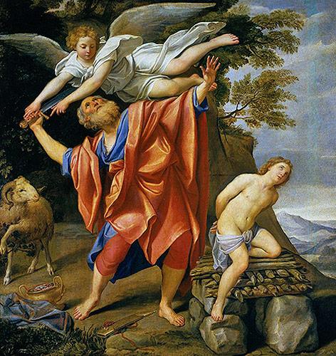"""Gemälde """"Die Opferung Isaaks"""" von Domenichino"""