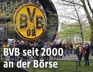 Außenansicht des Stadions von Borussia Dortmund
