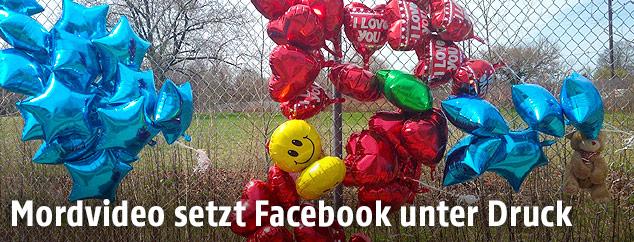 Luftballons am Tatort