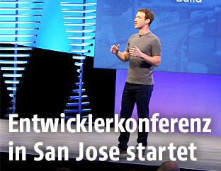 Mark Zuckerberg bei der Facebook Entwicklerkonferenz