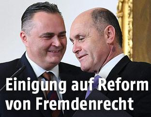 Verteidigungsminister Hans Peter Doskozil und Innenminister Wolfgang Sobotka