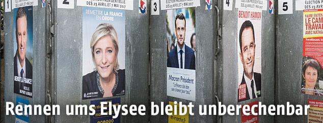 Plakate mit den Kandidaten
