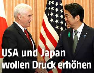 Japans Ministerpräsident Shinzo Abe und US-Vizepräsident Mike Pence