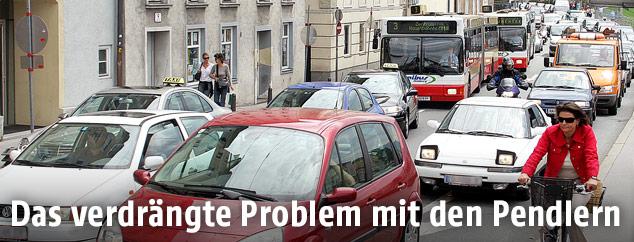 Verkehrschaos auf dem Salzburger Rudolfskai