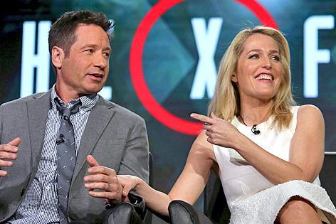 Die Akte-X-Schauspieler David Duchovny und Gillian Anderson